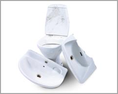 Sanitet, porcelæn og keramik